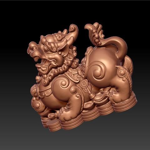 MythicalWildAnimal4.jpg Télécharger fichier STL gratuit Animal sauvage mythique • Design pour impression 3D, stlfilesfree