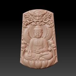 Buddha_with_dragon_background1.jpg Télécharger fichier STL gratuit Bouddha avec fond de dragon • Modèle pour imprimante 3D, stlfilesfree