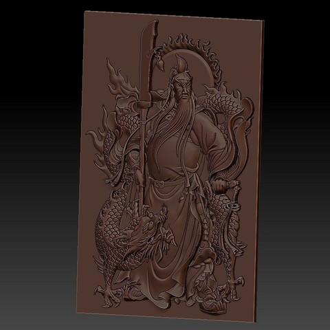 guangongDragon2.jpg Télécharger fichier STL gratuit GuanGong et dragon • Plan imprimable en 3D, stlfilesfree