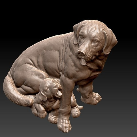 dogs3.jpg Download free STL file dogs sculpture • 3D print model, stlfilesfree