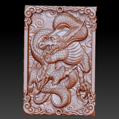 DragonZ1.jpg Download free OBJ file dragon 3d model of relief for cnc or 3d printing • 3D printable template, stlfilesfree