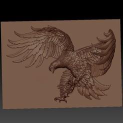 OneEagle1.jpg Télécharger fichier STL gratuit Aigle • Modèle imprimable en 3D, stlfilesfree
