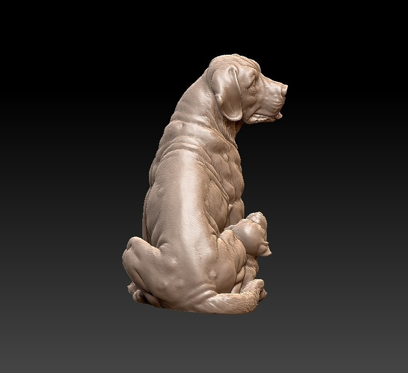 dogs5.jpg Download free STL file dogs sculpture • 3D print model, stlfilesfree