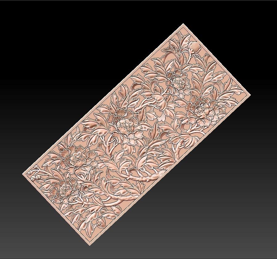 peony_pattern1.jpg Télécharger fichier STL gratuit pivoine • Plan imprimable en 3D, stlfilesfree