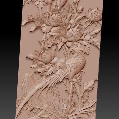 birdsAndFlowers5.jpg Télécharger fichier STL gratuit fleurs et oiseaux • Plan pour impression 3D, stlfilesfree