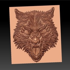 WolfHead1.jpg Download free STL file wolf head • Template to 3D print, stlfilesfree