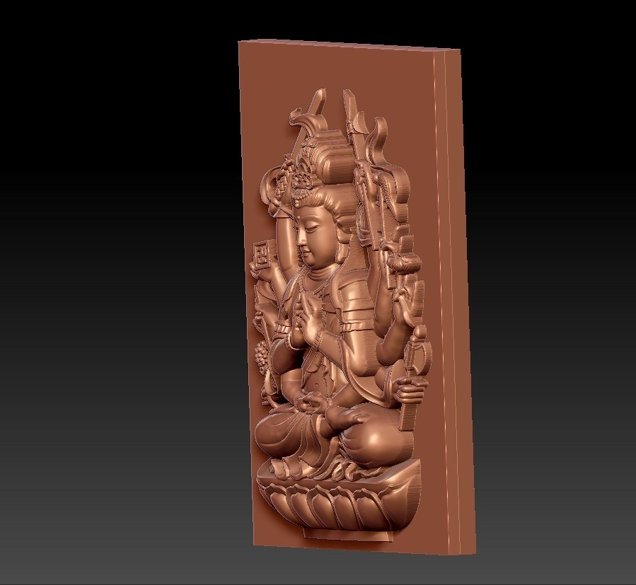 guanyinAQ4.jpg Download free STL file guanyin with thousands of hands • Object to 3D print, stlfilesfree