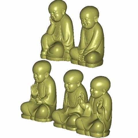 little monk2.jpg Download free STL file little monk  • 3D print object, stlfilesfree