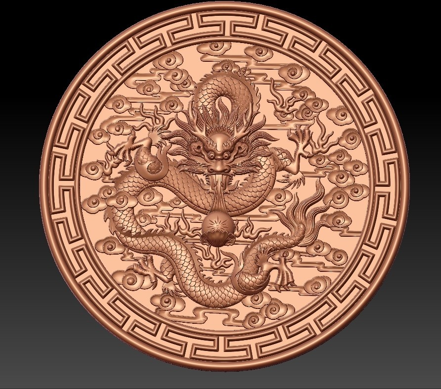 round_Dragon2.jpg Download free STL file dragon • 3D print object, stlfilesfree