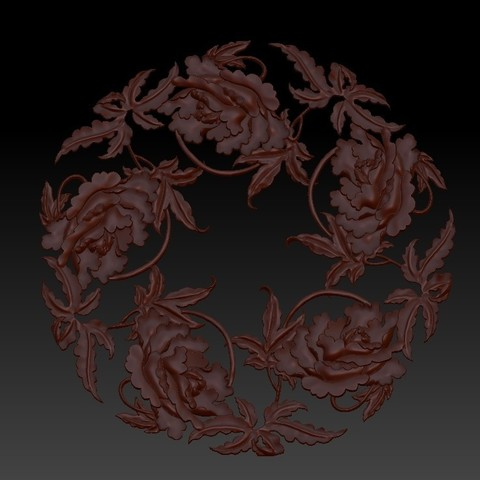 flowers3.jpg Download free OBJ file floral pattern 3d model of bas-relief for cnc • Model to 3D print, stlfilesfree