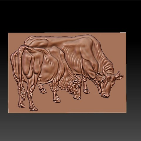 two_bulls2.jpg Download free STL file two bulls • Model to 3D print, stlfilesfree