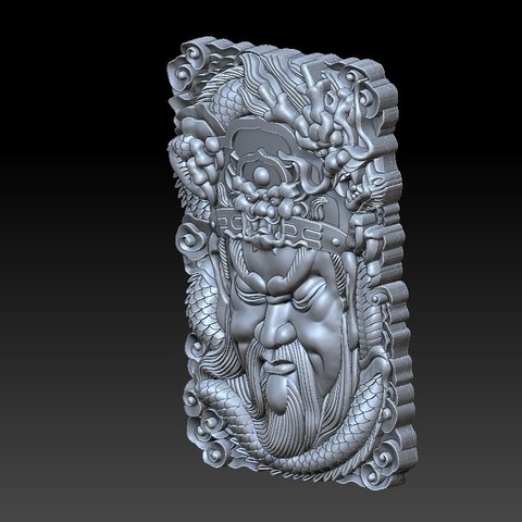 guangong_dragon2.jpg Download free STL file Guangong and dragon • 3D printable design, stlfilesfree
