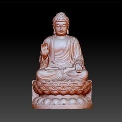 TathagataBuddha1.jpg Download free STL file Tathagata Buddha statue 3d sculpture • 3D print object, stlfilesfree