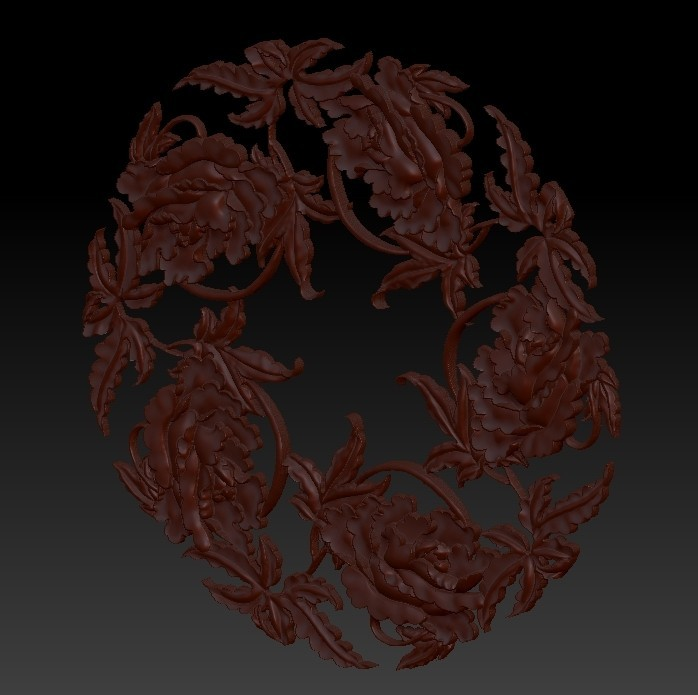 flowers5.jpg Download free OBJ file floral pattern 3d model of bas-relief for cnc • Model to 3D print, stlfilesfree