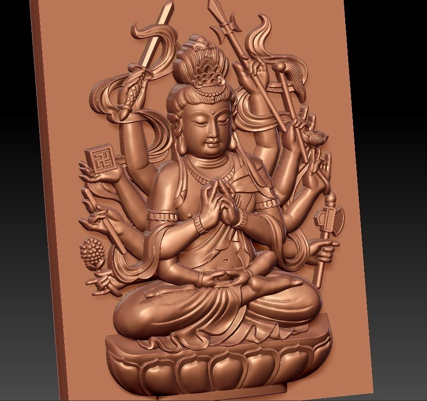 guanyinAQ10.jpg Download free STL file guanyin with thousands of hands • Object to 3D print, stlfilesfree