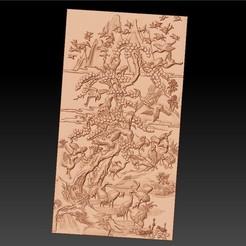 hundreds_of_cranes1.jpg Télécharger fichier STL gratuit Sculpture sur bois traditionnelle chinoise • Objet imprimable en 3D, stlfilesfree