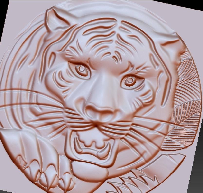 TigerHeadRRR4.jpg Download free STL file tiger head • 3D printable template, stlfilesfree