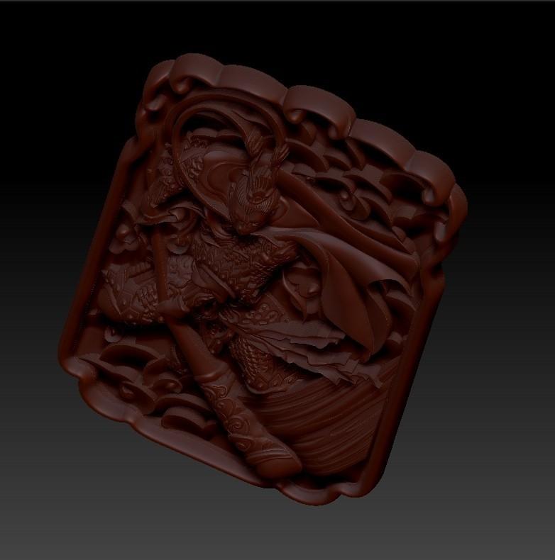 MonkeyKingZ4.jpg Télécharger fichier OBJ gratuit MONKEY KING MODÈLE 3D DE BAS-RELIEF POUR CNC • Objet pour impression 3D, stlfilesfree
