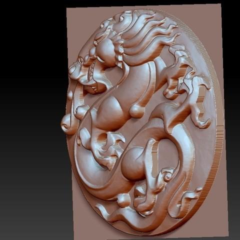 circularDragon3.jpg Télécharger fichier OBJ gratuit dragon circulaire • Objet imprimable en 3D, stlfilesfree