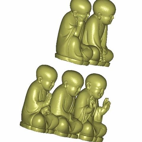 little monk4.jpg Download free STL file little monk  • 3D print object, stlfilesfree