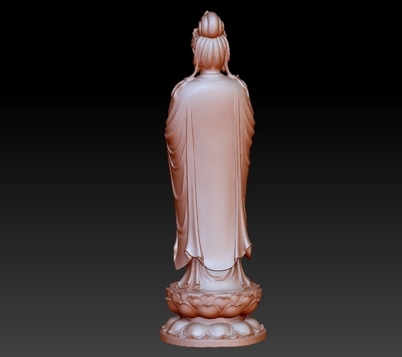 019guanyin4.jpg Download free OBJ file Guanyin bodhisattva Kwan-yin sculpture for cnc or 3d printer19 • Template to 3D print, stlfilesfree