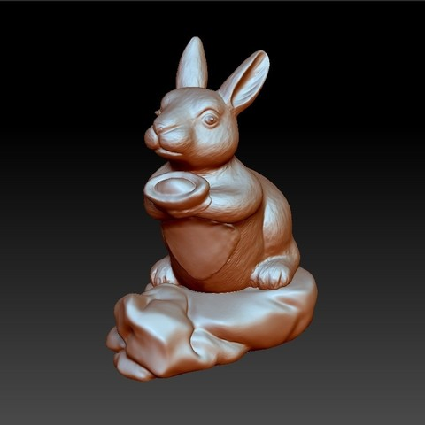 rabbit2.jpg Download free STL file rabbit 3d model • 3D printing template, stlfilesfree