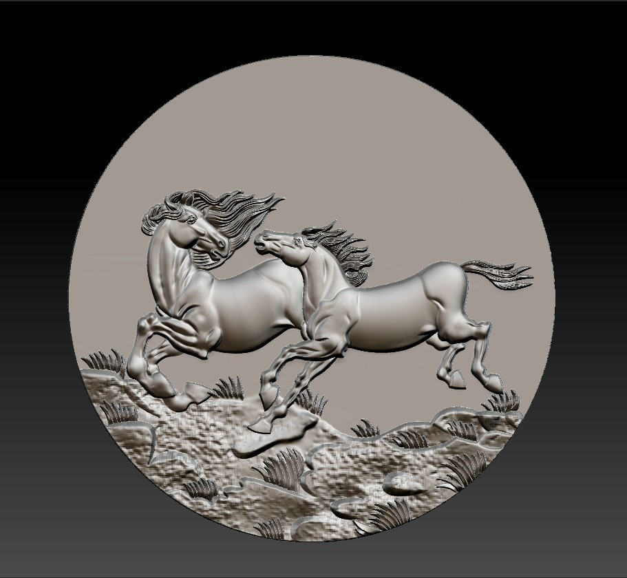Two_horses5.jpg Download free STL file Two horses • 3D printer design, stlfilesfree