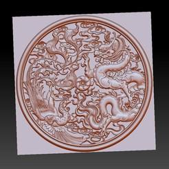 dragonAndPhoenixAAA1.jpg Télécharger fichier STL gratuit dragon et phoenix • Objet à imprimer en 3D, stlfilesfree