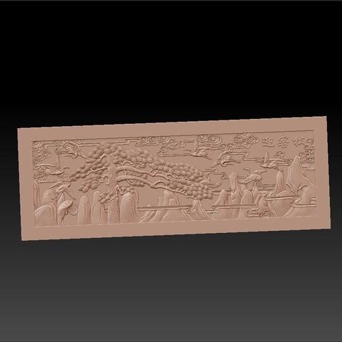 Guest-Greeting_Pine1.jpg Download free STL file Guest-Greeting Pine • Template to 3D print, stlfilesfree