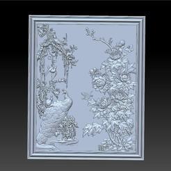 peocock_and_peony1.jpg Télécharger fichier STL gratuit paon et pivoine • Modèle pour imprimante 3D, stlfilesfree