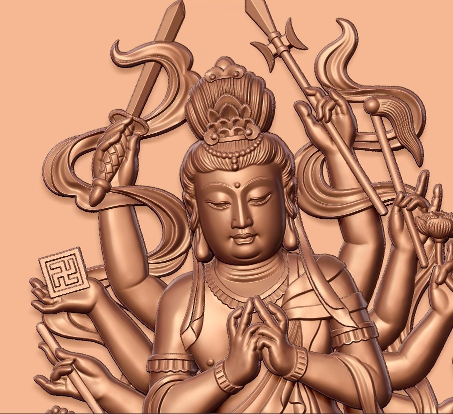 guanyinAQ8.jpg Download free STL file guanyin with thousands of hands • Object to 3D print, stlfilesfree