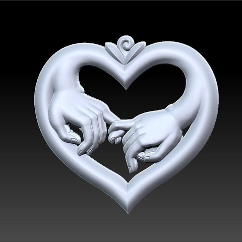 love_hands1.jpg Download free STL file hands of love • 3D printer model, stlfilesfree