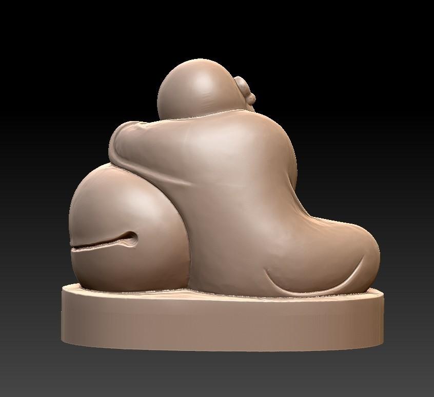 littleMonkSSS2.jpg Télécharger fichier STL gratuit dormant petit moine • Modèle à imprimer en 3D, stlfilesfree