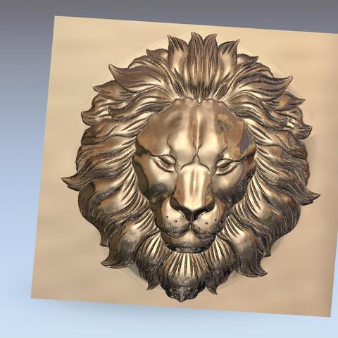 lion_headB4.jpg Download free STL file lion head bas-relief model for cnc • 3D printer design, stlfilesfree