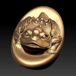 goldenToad1.jpg Télécharger fichier STL gratuit crapaud doré ou crapaud chanceux • Design pour impression 3D, stlfilesfree