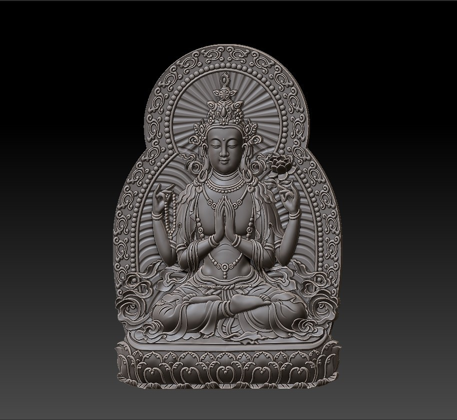 guanyin_bodhisattva_with_thousands_of_hands2.jpg Télécharger fichier STL gratuit Kwan-yin • Objet imprimable en 3D, stlfilesfree