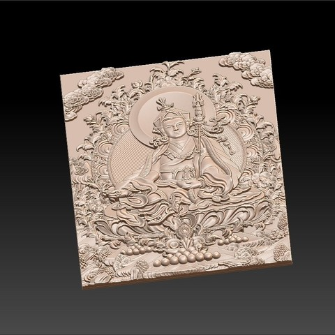 Thangka5.jpg Download free STL file Thangka paintings of bas-relief • 3D print template, stlfilesfree