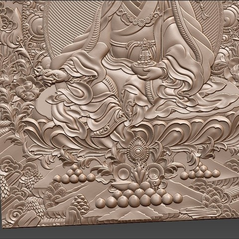 Thangka9.jpg Download free STL file Thangka paintings of bas-relief • 3D print template, stlfilesfree