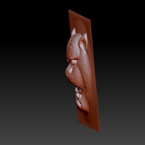 tigerHead4.jpg Download free OBJ file tiger head pendant • 3D printer template, stlfilesfree