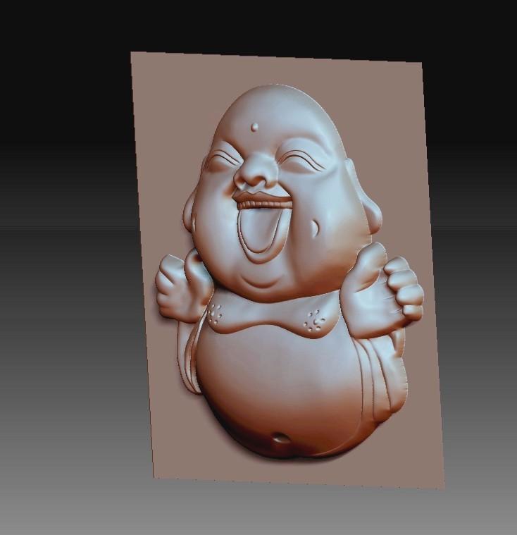 happyBuddhaB2.jpg Télécharger fichier STL gratuit joyeux petit Bouddha • Modèle pour imprimante 3D, stlfilesfree