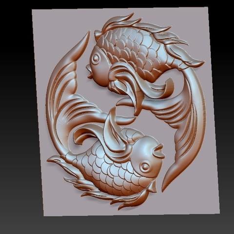twoFish2.jpg Download free OBJ file cute fish • 3D printer template, stlfilesfree