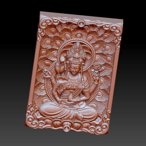 guanyinpeacock2.jpg Télécharger fichier STL gratuit Bouddha Guanyin • Modèle imprimable en 3D, stlfilesfree