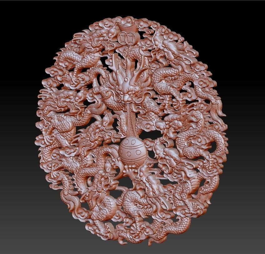 NineDragons2.jpg Download free STL file nine dragons • 3D printable design, stlfilesfree