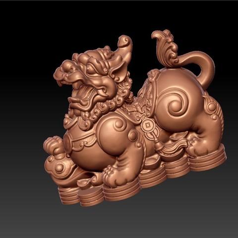 MythicalWildAnimal3.jpg Télécharger fichier STL gratuit Animal sauvage mythique • Design pour impression 3D, stlfilesfree