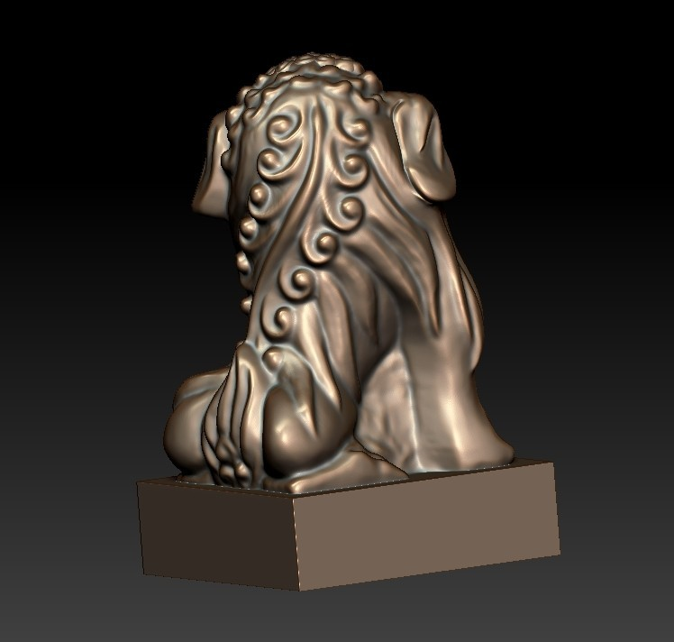 FooDogsDDD3.jpg Download free STL file guardian lions or Foo Dogs • Template to 3D print, stlfilesfree