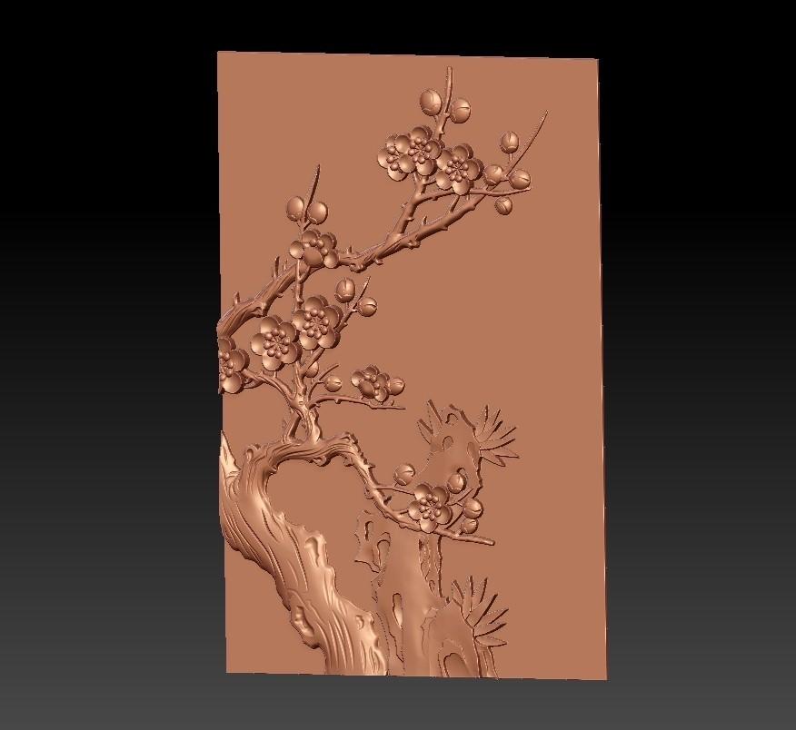 Plum_blossom2.jpg Télécharger fichier STL gratuit fleur de prunier • Objet pour impression 3D, stlfilesfree