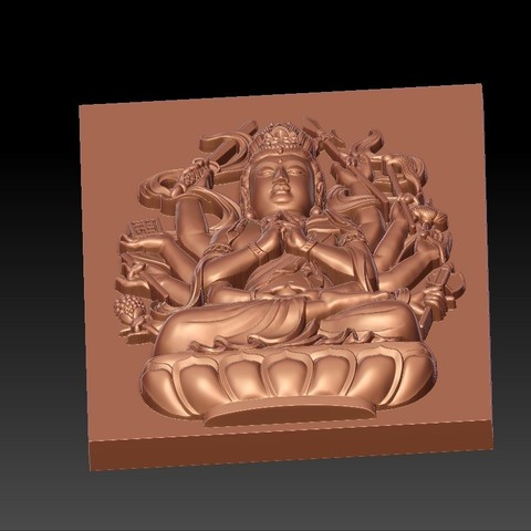 guanyinAQ6.jpg Download free STL file guanyin with thousands of hands • Object to 3D print, stlfilesfree