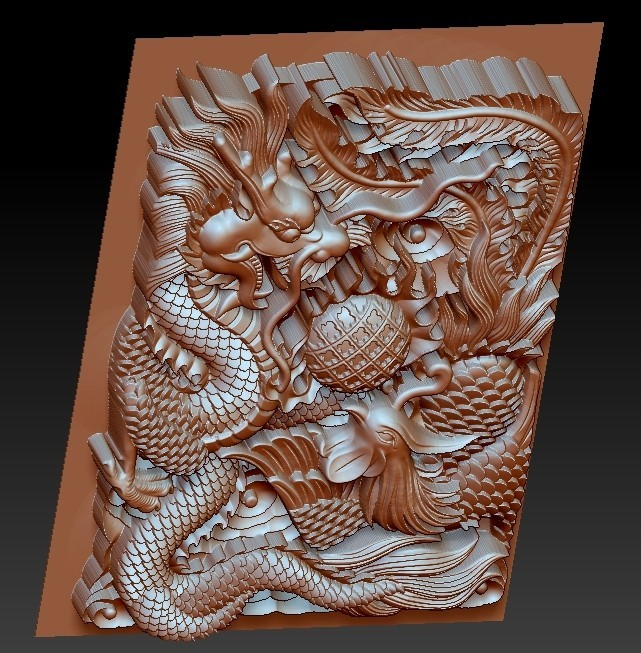 DragonAndPhoenix5.jpg Download free OBJ file dragon and phoenix • Design to 3D print, stlfilesfree