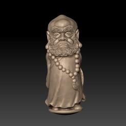 Bodhidharma1.jpg Télécharger fichier STL gratuit Bodhidharma • Modèle à imprimer en 3D, stlfilesfree
