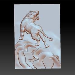 tigerB1.jpg Télécharger fichier OBJ gratuit tigre • Plan à imprimer en 3D, stlfilesfree